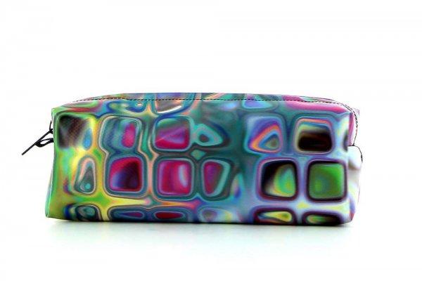 Federmäppchen Rabland Talfer Geometrisch, abstrakt, bunt, rosa, blau, weis, pink