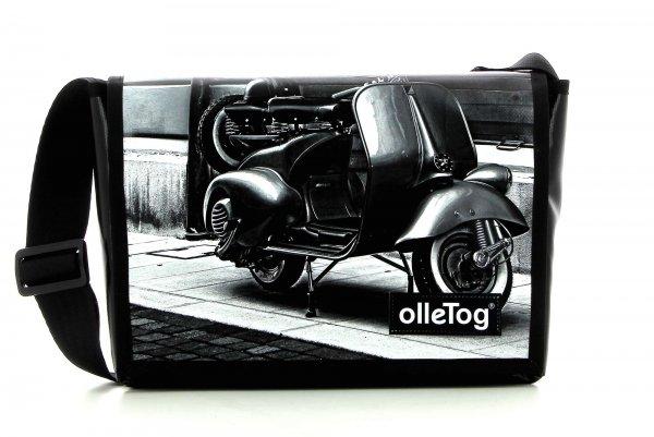 Messenger bag Eppan Trafoi motorcycle, vespa, retro, vintage, white, black