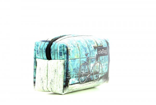 Cosmetic bag Burgstall Antlas racing cycle, retro, vintage, turquoise, white, black
