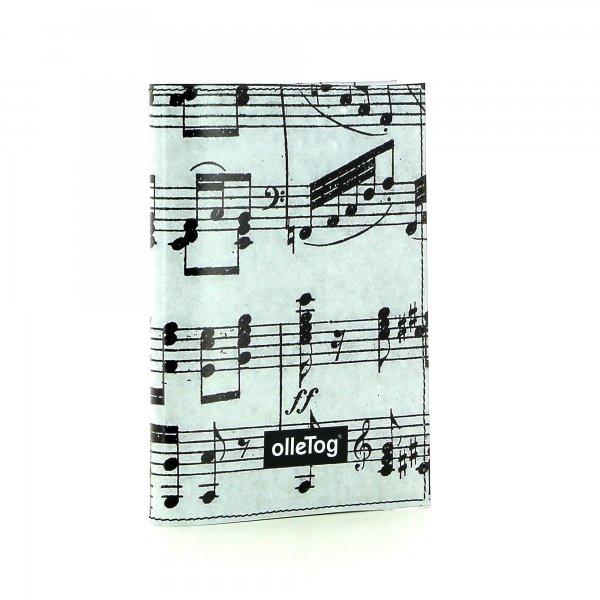 Notebook Laas - A6 XXX April grau music, notes, gray, black
