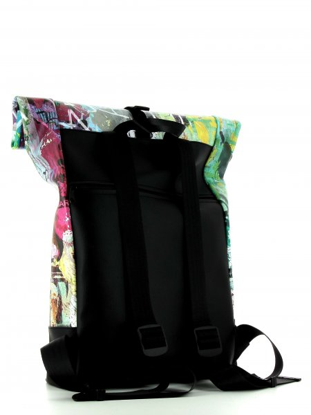 Roll backpack Riffian Meister Graffiti, Poster, Distort, Abstract, Textures, Colourful