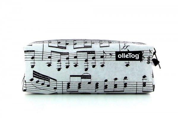 Pencil case Rabland XXX April grau music, notes, gray, black