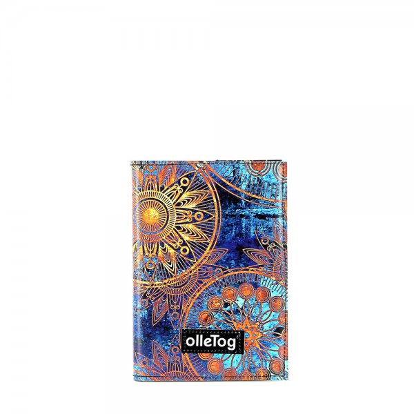 Notebook Laas - A6 San Marco flowers, blue, gold, yellow