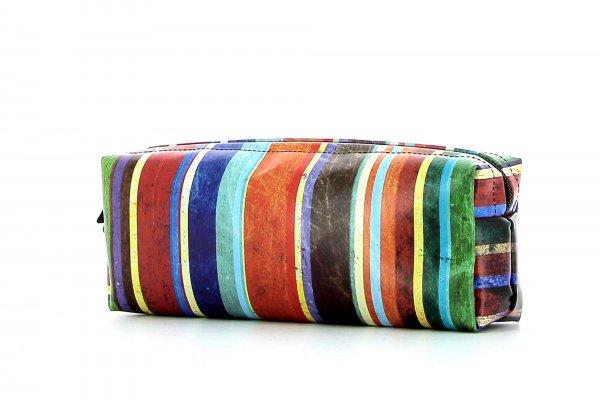 Federmäppchen Rabland Pascoli Streifen, blau, grün, rot, orange, geometrisch, bunt