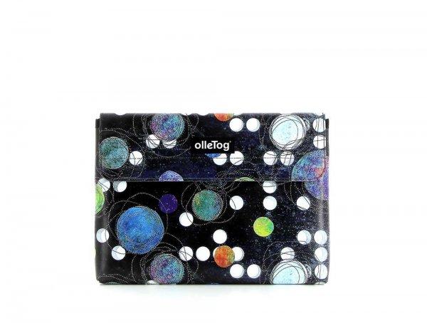 Tablettasche Eggen 11'' Selva Punkte, schwarz, bunt, weis, blau