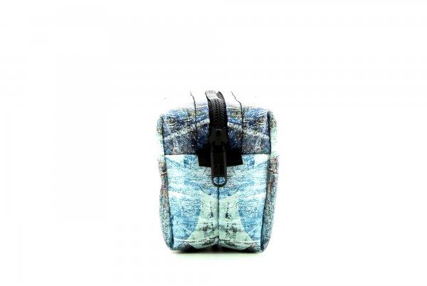 Kosmetiktasche Burgstall Appolonia Abstrakt, Punkte, blau