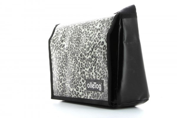 Umhängetasche Eppan Treib Leopardenmuster, braun, schwarz, grau