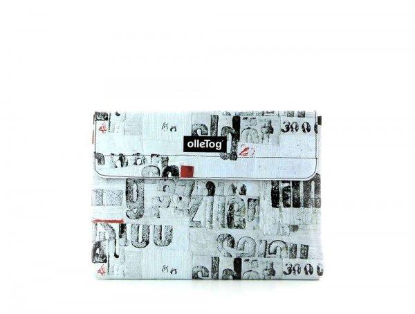 Tablettasche Eggen 11'' Curon Fotocollage, Schriften, Buchstaben, schwarz, weiß