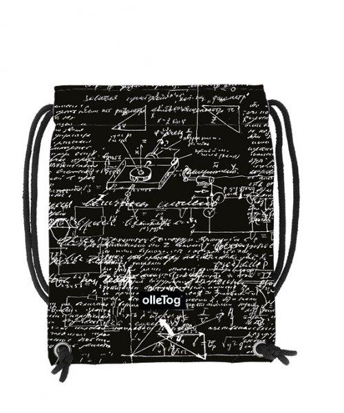 Turnbeutel Corvara Kaltegg Schriften, schwarz, weiss