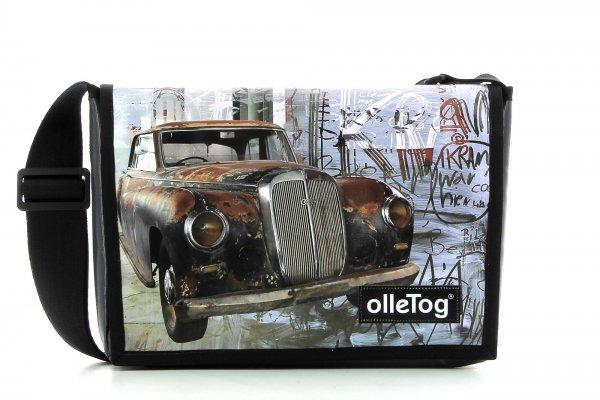 Umhängetasche Eppan Kofel Auto, Audi, Oldtimer, Vintage, retro, braun