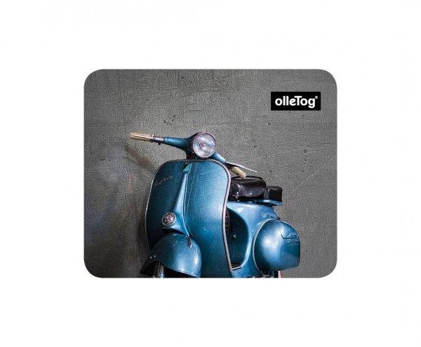 Mousepad Enneberg Glener motorcycle, vespa, retro, vintage, blue, gray