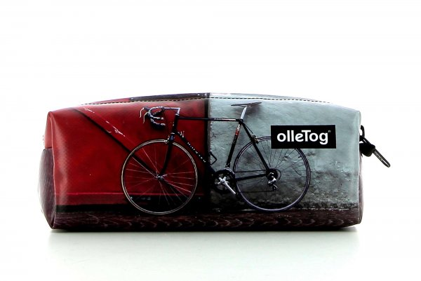 Pencil case Rabland Zara racing bicycle, red door, pavement cubes