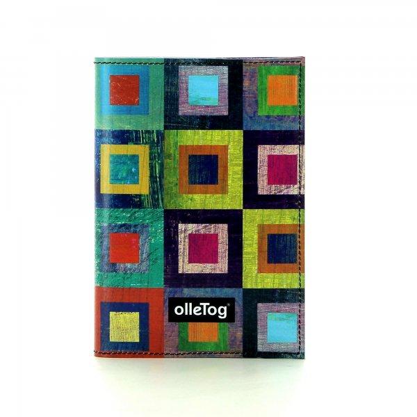 Notizheft Laas - A6 Damm Bunt, kariert, geometrisch, gelb, lila, blau