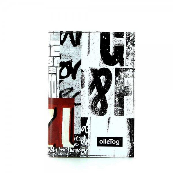 Notizheft Tarsch - A5 Lehrershof Weis, Schriften, schwarz, gelb, grau, türkis