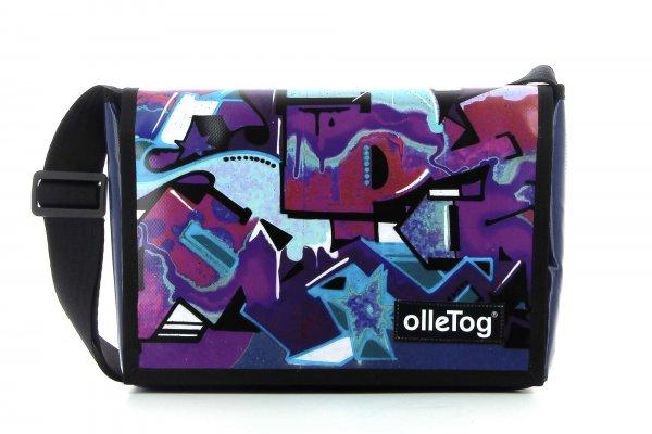 Umhängetasche Eppan Rosegger Graffiti, viollet