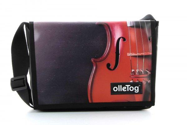 Umhängetasche Eppan Mozart Musik, rote Geige, schwarz