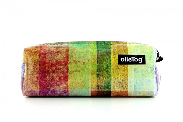 Pencil case Rabland Markus plaid, colored, geometric, pink, yellow, orange, white, lilac
