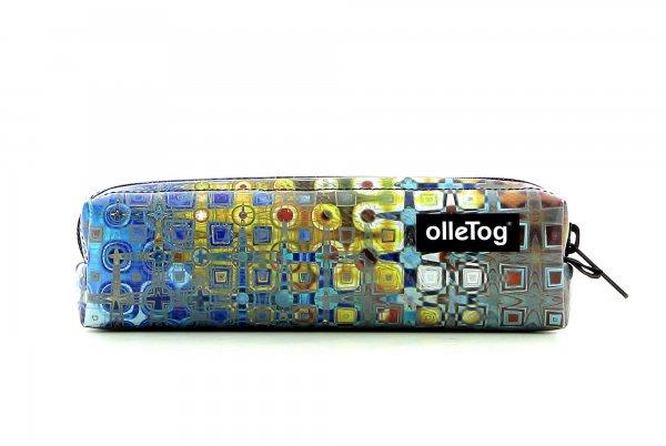 Accessories Federmäppchen Futter Geometrisch, bunt, abstrakt, blau, gold, grau, gelb