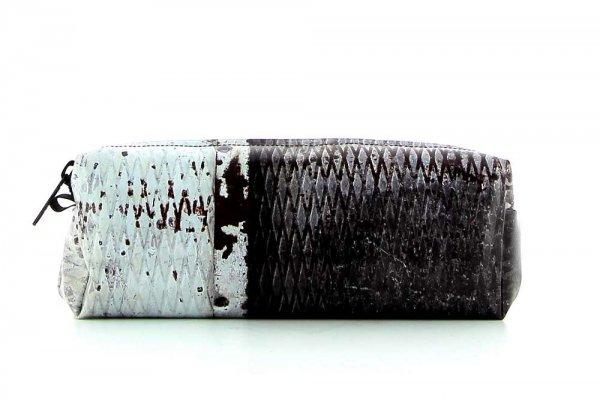 Federmäppchen Rabland Froehlich Tür, Metall, Vintage, grau, weis
