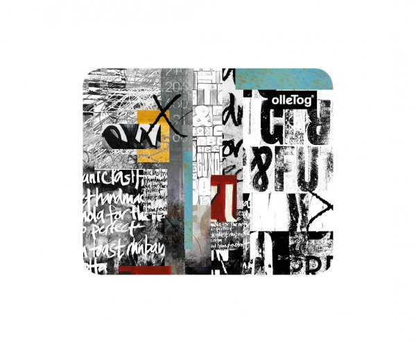 Home & Office Mousepad Lehrershof white, scriptures, black, yellow, gray, turquoise