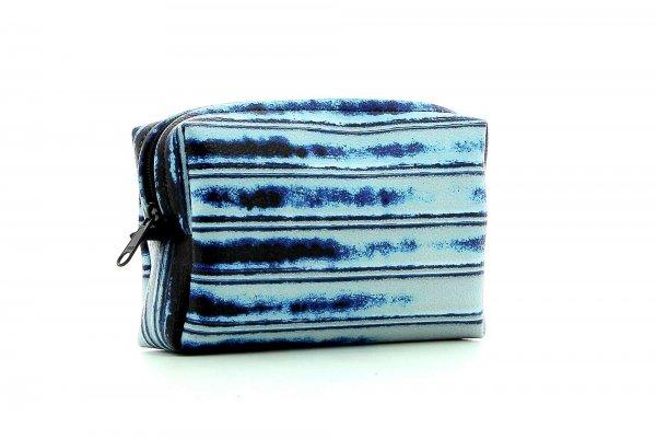 Cosmetic bag Vilpian Falschauer blue, shutter, metal, lines