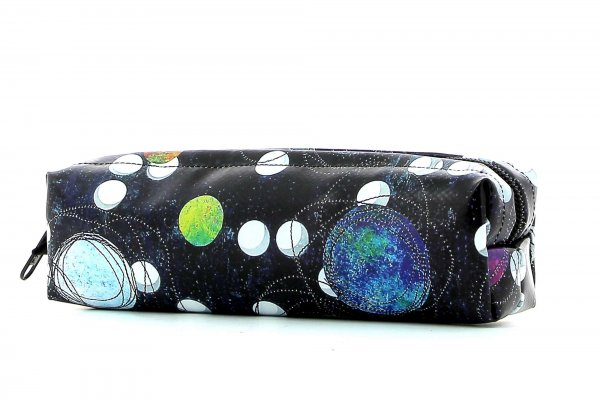 Pencil case Marling Selva dots, black, colored, white, blue