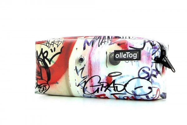 Pencil case Rabland Haslacher graffiti, scriptures, red, white, black
