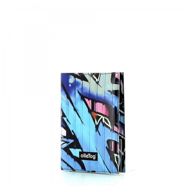 Notizheft Laas - A6 Burg Graffiti, blau, rosa