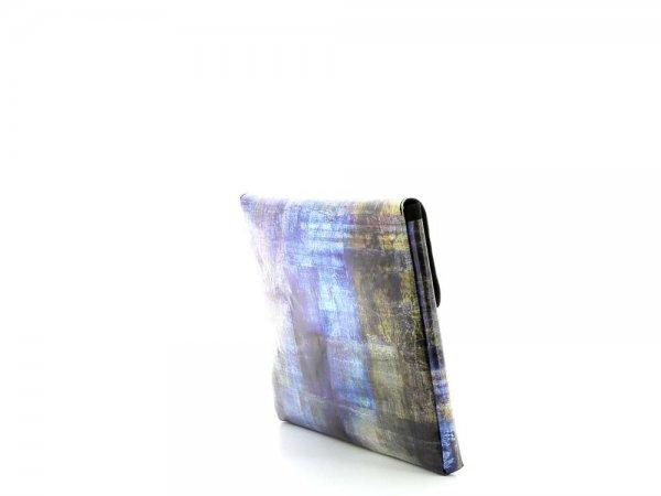 Tablettasche Eggen 11'' Kaltermoos Abstrakt, kariert, blau, braun, geometrisch