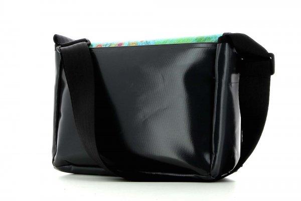 Messenger bag Eppan Silvester turquoise, green, pink, orange, dots, lines, patchwork