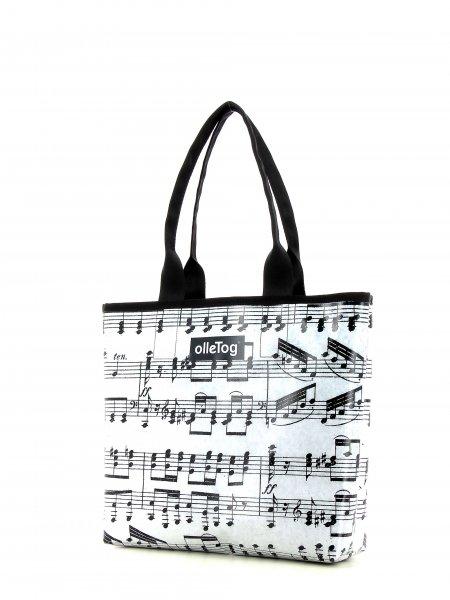 Shopper Kurzras XXX April grau Musik, Noten, grau, schwarz