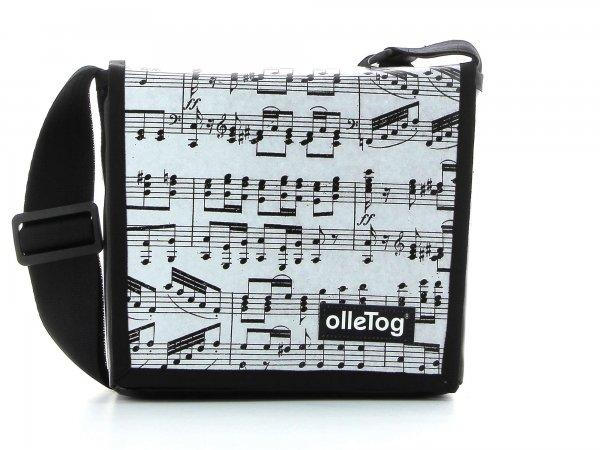 Messenger bag Glurns XXX April grau music, notes, gray, black