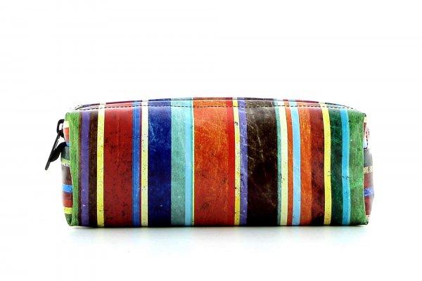 Pencil case Rabland Pascoli stripes, blue, green, red, orange, geometric