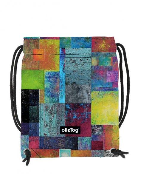 Gym backpack Corvara Brida plaid, colored, yellow, blue, green, geometric
