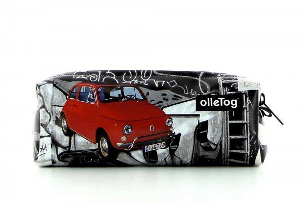 accessori astuccio Lampi macchina, vintage, retro, fiat 500, rosso, oldtimer,