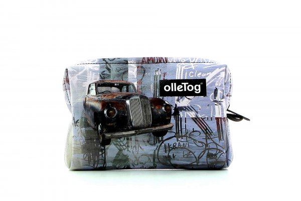 Cosmetic bag Vilpian Kofel car, audi, oldtimer, vintage, retro, brown