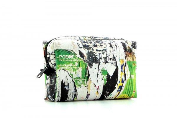 Kosmetiktasche Vilpian Spaur Fotocollage, grün, gelb, Plakatwand