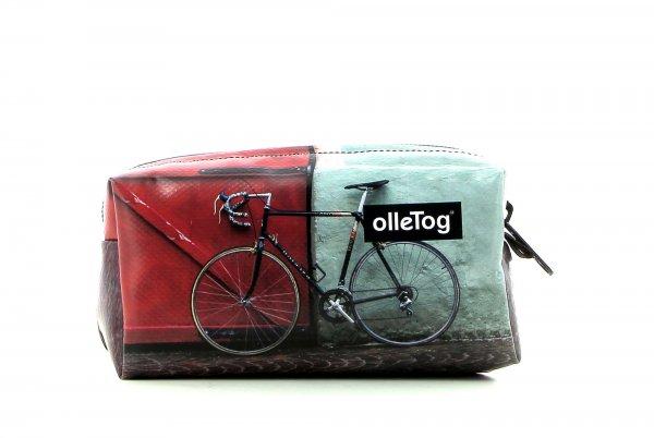 Cosmetic bag Burgstall Zara racing bicycle, red door, pavement cubes