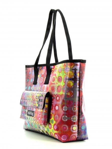 Shopping bag Deutschnofen Seminar abstract, dots, multicoloured