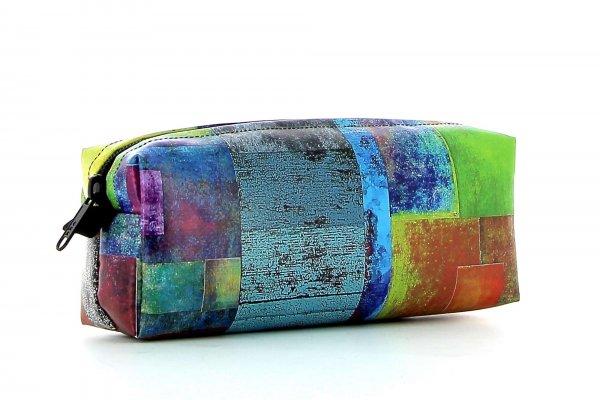 Pencil case Rabland Brida plaid, colored, yellow, blue, green, geometric