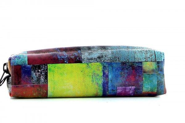 Federmäppchen Marling Brida Kariert, bunt, gelb, blau, grün, geometrisch