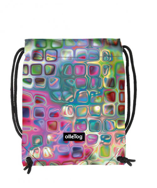 Gym backpack Corvara Talfer geometric, abstract, colorful, pink, blue, white