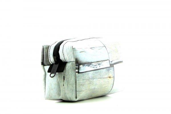 Cosmetic bag Burgstall Plafat Geometric, white, grey, stripe, square, wall
