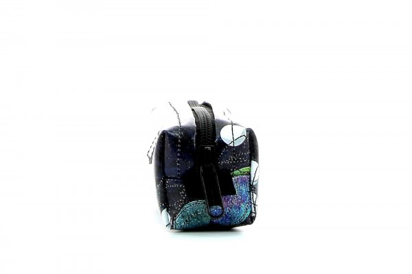 Federmäppchen Marling Selva Punkte, schwarz, bunt, weis, blau