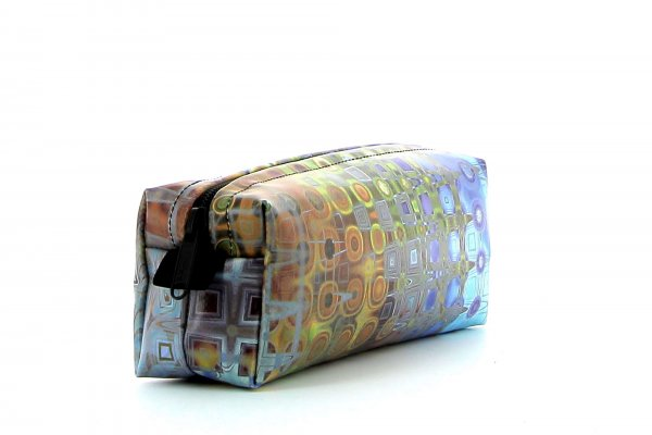 Pencil case Rabland Futter geometric, colorful, abstract, brown, blue, gold, gray, yellow