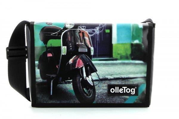 Umhängetasche Eppan Teboni Motorrad, Vespa, grün, blau, grau