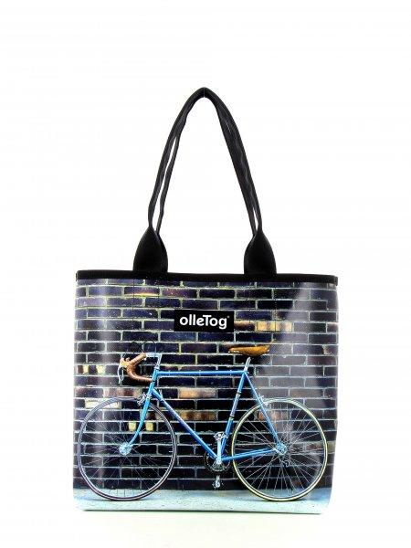 Shopper Kurzras Tribulaun Fahrrad, Rennrad, retro, vintage, weiß, braun, blau