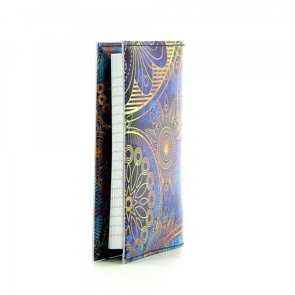 Notizheft Laas - A6 San Marco Blumen, blau, gold, gelb