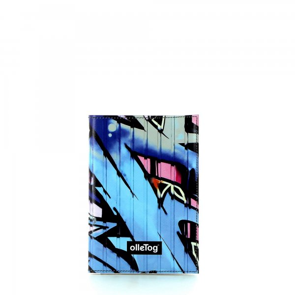 Notebook Laas - A6 Burg graffiti, blue, pink