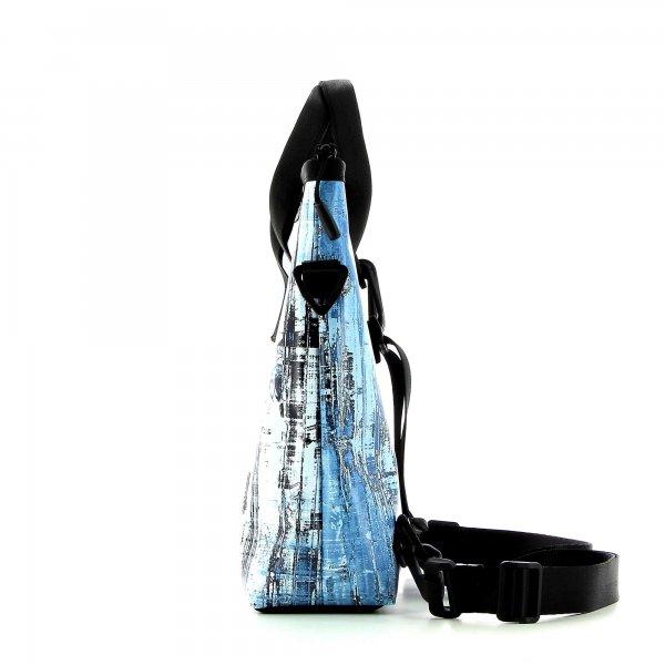 Backpack bag Siebeneich Monteplai grey, turquoise, retro, vintage, wall, concrete, racing bike